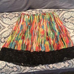 Multi Colored Skirt w/ Lace Trim 👗🌅